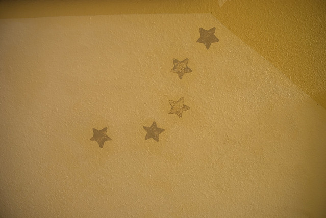 the yellow star wall
