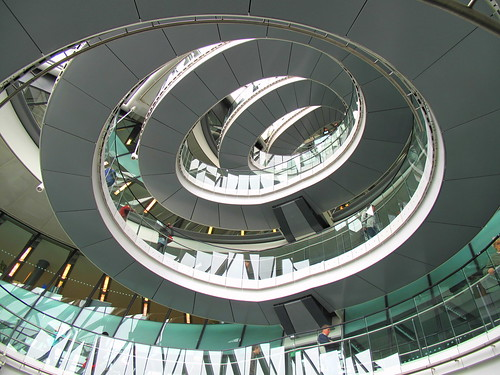 Spiral staircase at County Hall | by Matt Ritchie
