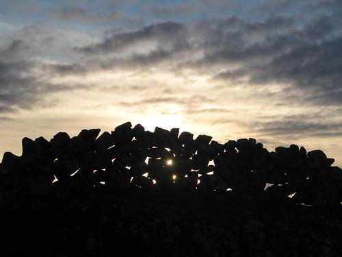 ireland sunset wall cogalway connemara thisiswherewestayonholidaythisyearnotthiswallofcoursebutthewallwasaroundthehouse