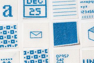 Cross stitch swatches