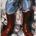 Michael Borremans (1963)<br /> Pixie, 1998<br /> olieverf op doek<br /> 30x24cm</p> <p>front