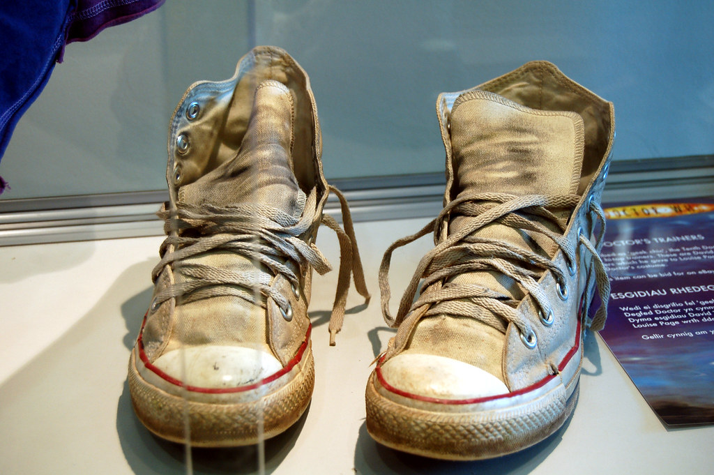 David Tennants trainers. | Sold on a well known auction site