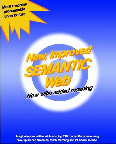 New, Improved *Semantic* Web! Now with added meaning... (via Mark Butler) #SemanticWeb   by dullhunk