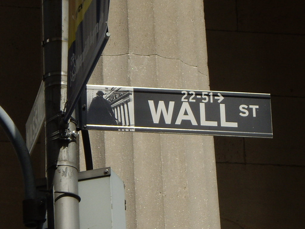 Wall Street signpost