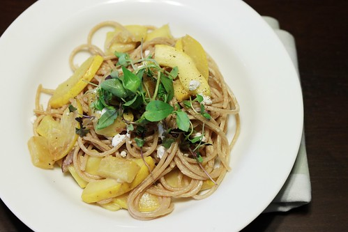 squash and goat cheese pasta | by Stacy Spensley