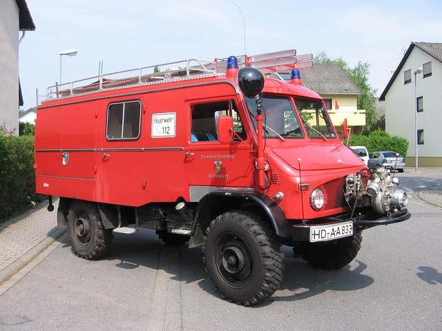 Fotoprojekt Unimog und Feuerwehr: LF 8 der Feuerwehr Altneudorf