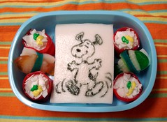 Silly snoopy snack bento | by Sakurako Kitsa