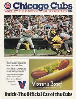 1982 Chicago Cubs Scorecard   by terren in Virginia