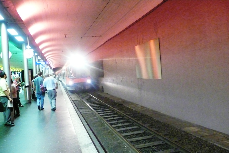 Train entering Bern Station (Solothurn-Bern line)
