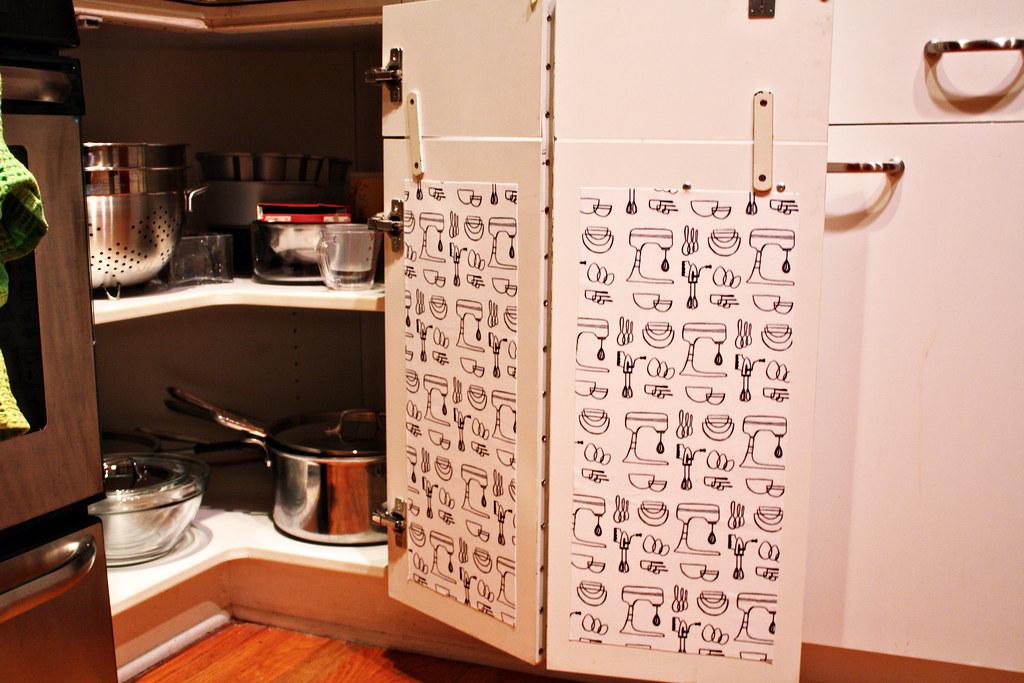 edited Mod Podge Kitchen Cabinet liners (7) | fwmpkp | Flickr
