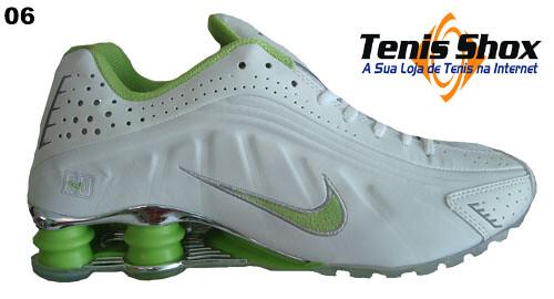 tenis nike shox r4 verde