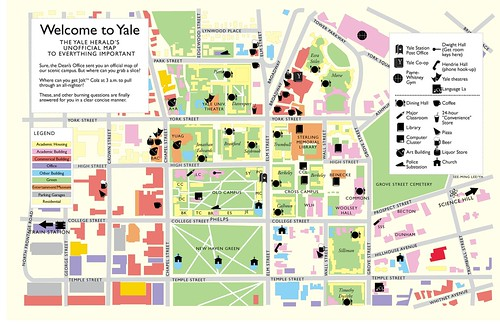Welcome to Yale: The Yale Herald Unofficial Map to Everything Important / 1997 / SML Graphic Design | by See-ming Lee (SML)