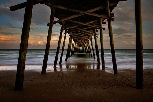 longexposure sunset usa beach pier tramonto northcarolina emeraldisle spiaggia pontile massimostrazzeri ziomamo gettyaprpriv2011