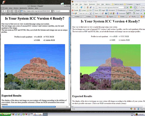 Safari vs Firefox color profiles | news com com/Safari+usher… | Flickr