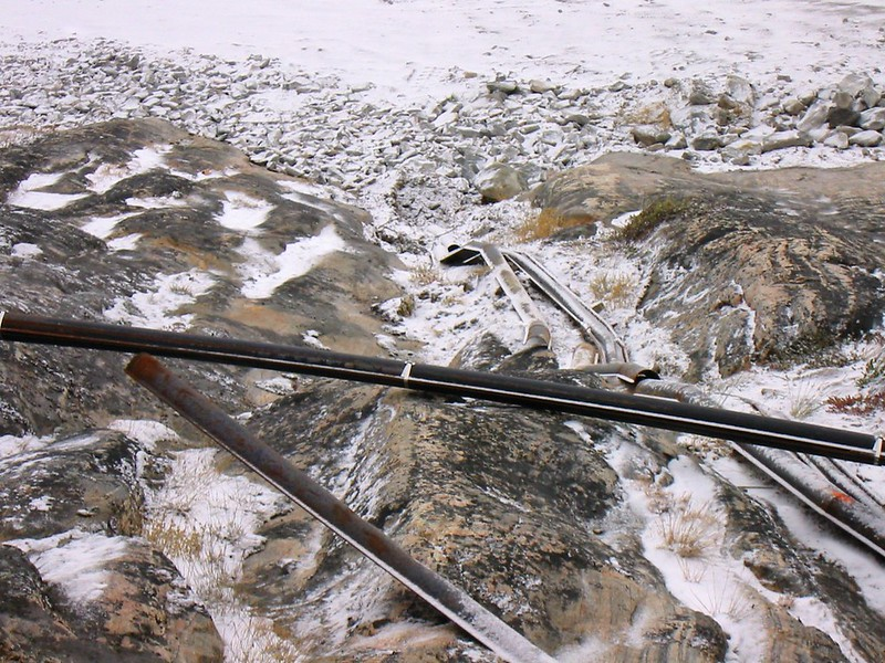 Unburied Cables, Ilulissat, Greenland