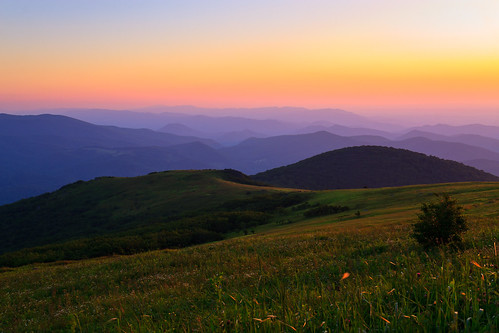 sunset mountains virginia whitetop scenicviews mountrogers jeffersonnationalforest