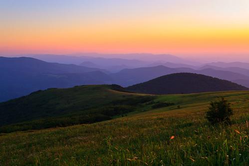 sunset mountains virginia whitetop scenicviews mountrogers jeffersonnationalforest