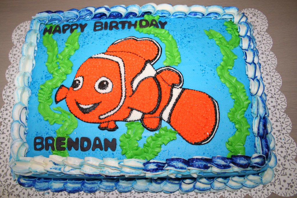 Fantastic Finding Nemo Birthday Cake Please Let Me Know What You Thi Flickr Personalised Birthday Cards Cominlily Jamesorg