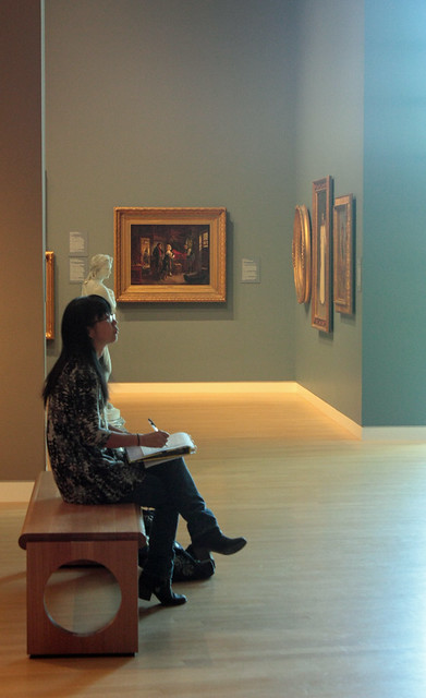 Naomi Studying Art