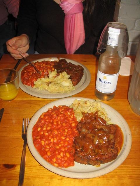 Vegetarian Bangers and Mash