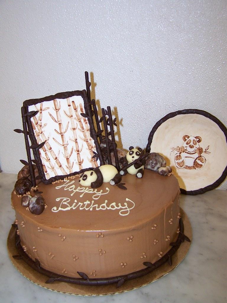 Outstanding Panda Happy Birthday Cake Chocolate Cake Dark Chocolate G Flickr Funny Birthday Cards Online Alyptdamsfinfo