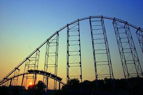 sunset d50 amusementpark rollercoaster dorneypark 18200mmf3556gvr steelforce