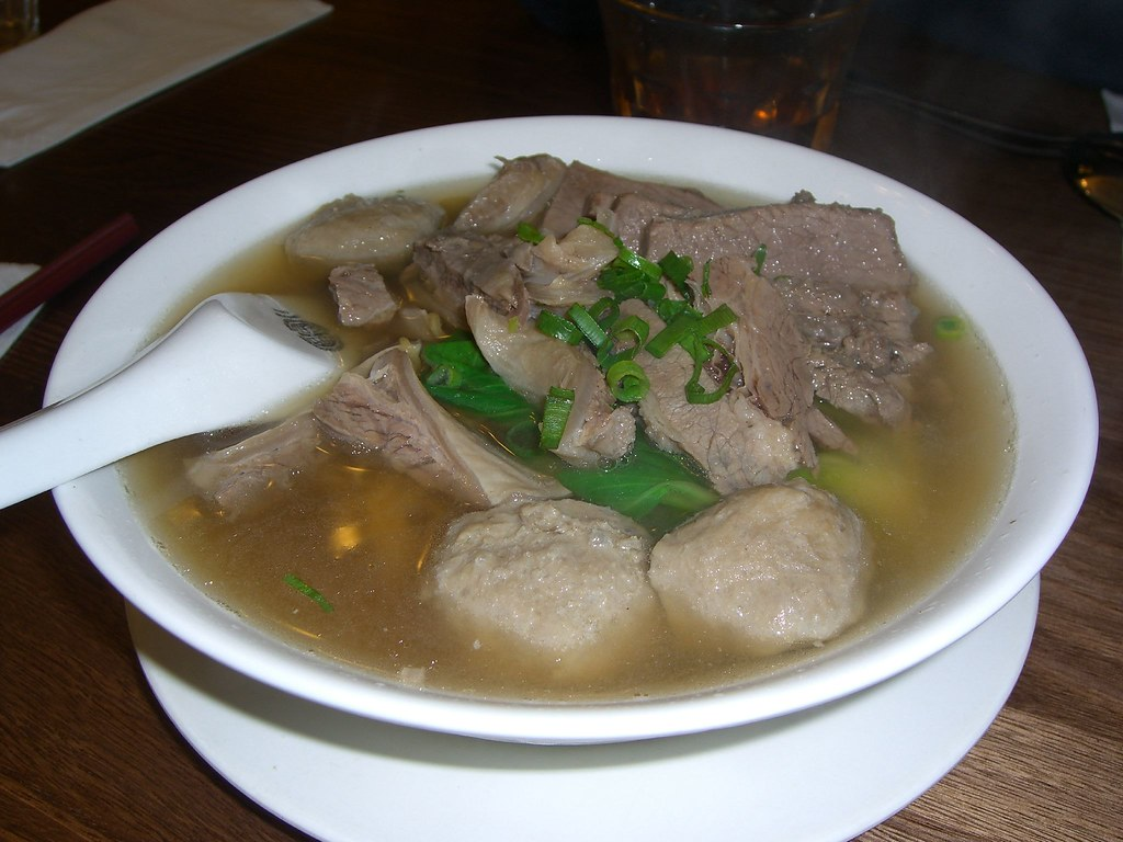 beef brisket and beef ball noodle soup  wonton house  wi