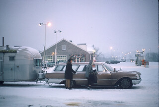 Traditional stop at Midway on the PA Turnpike, Dec 1963