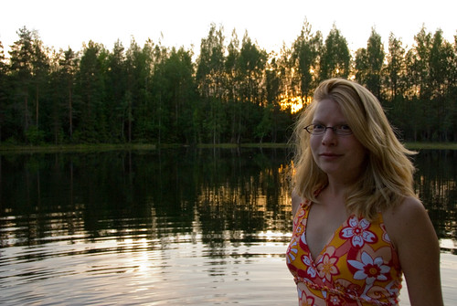 Deb with the setting sun | by denovich