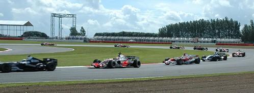 Silverstone F1 Test Day - Traffic! - Nico Rosberg : AT&T Williams + Fernando Alonso : Vodafone McLaren Mercedes + Jarno Trulli : Toyota Panasonic