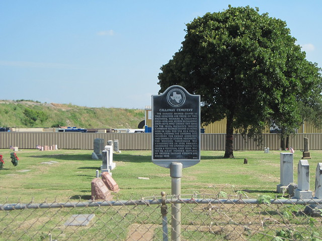 Calloway Cemetery, Euless Texas Historical Marker