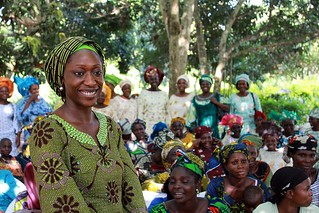 Hafsat Abiola addressing a 16 October women's empowerment rally in Nigeria | by Africa Renewal
