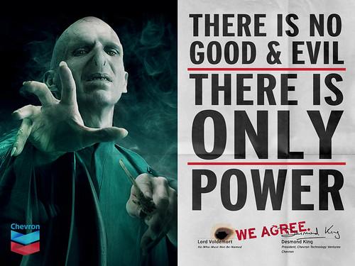 "Chevron & Voldemort ""We Agree"" | by jonathan mcintosh"