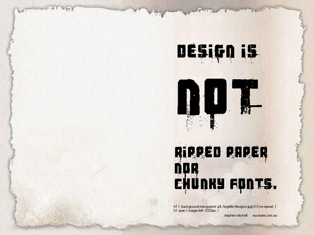 Design is Not Ripped Paper and Chunky Fonts | 1024 x 768 Wal… | Flickr