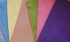 plant dyed wool felt | by SouleMama