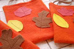 The Wool Blankets: halloween/harvest bags | by SouleMama