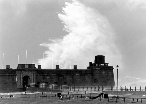 Giant Wave over Fort Perch Rock