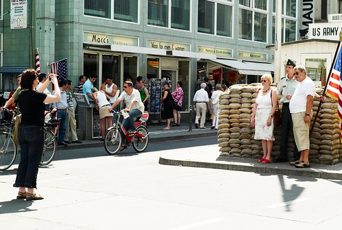 Photographer and Tourists at Checkpoint Charlie | by Joi