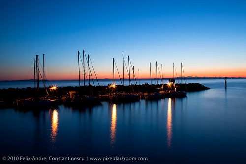 sunset water boats whiterock 365