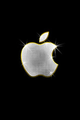 Apple bling iPhone wallpaper | by The Pug Father