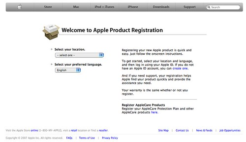 Apple - Product Registration - Welcome | Uploaded with plasq… | Flickr