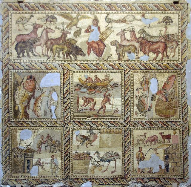 Mosaic d'Orfeu, Museu de Trípoli