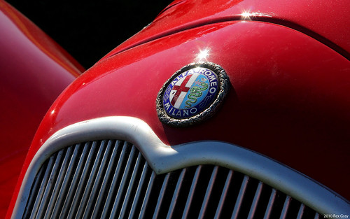 1929 Alfa Romeo 6C 1750 SS Two Seater - badge | by Rex Gray