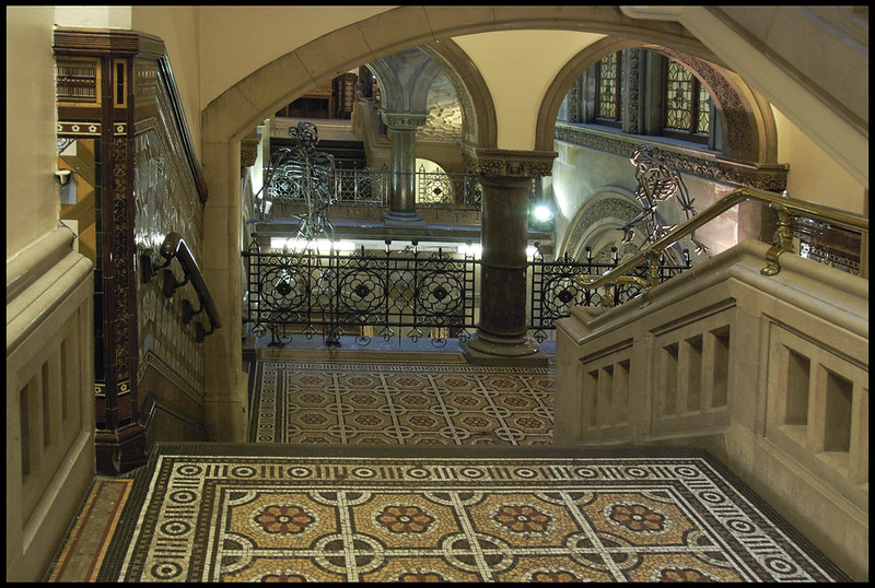 Central staircase, Central Libary, Leeds
