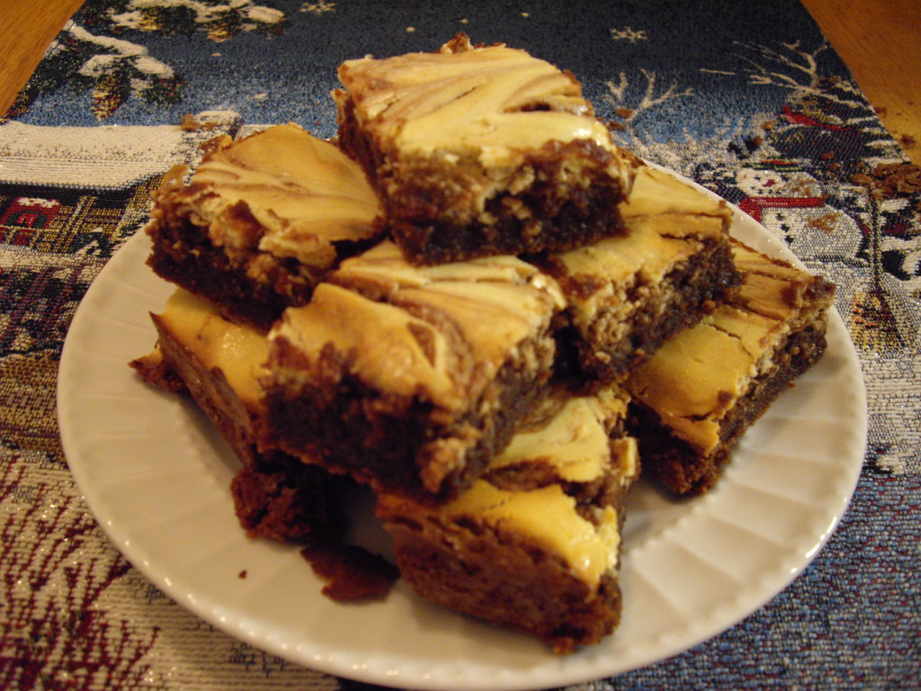 Bakers One Bowl Cream Cheese Brownies 4 Squares Baker S