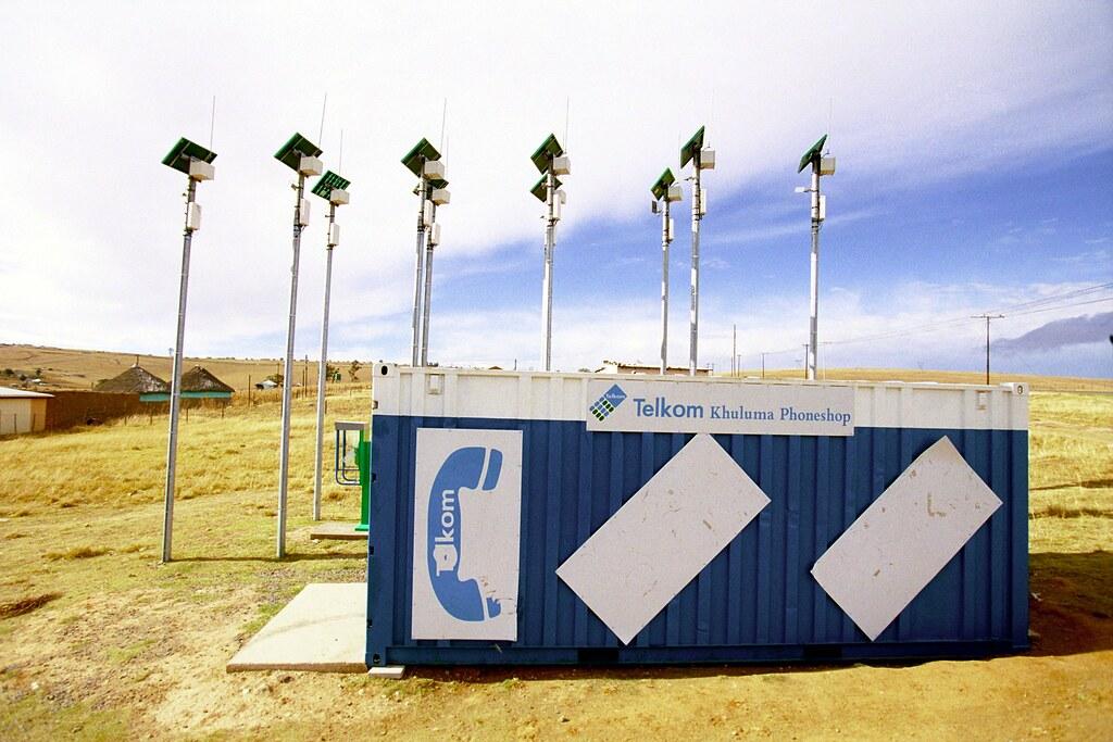 Solar panels and telephones in Qunu
