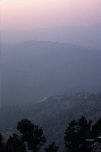 sunset india foothills landscape asia indian himalaya coolscan himalayas himalayan hillstation almora highquality flickrfinal nikon1india0121sie