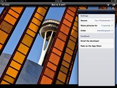 Flickr Frame 1.1 Screenshot | by B.K. Dewey