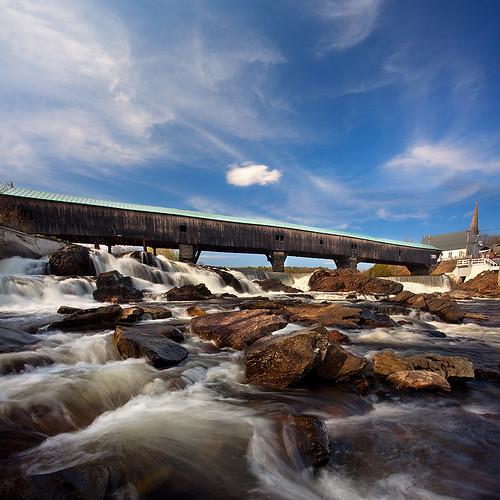 bridge landscape bath newhampshire nh coveredbridge