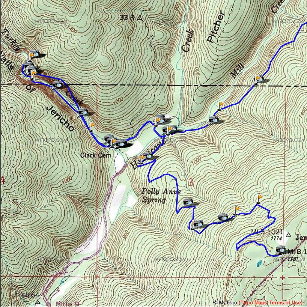 Walls of Jericho - Trails Topo Map | Delos Johnson | Flickr
